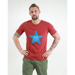 t-shirt herren origami star red