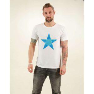 t-shirt herren origami star white