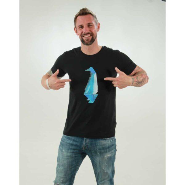 t-shirt herren pinguin black