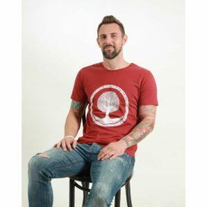 t-shirt herren tree red