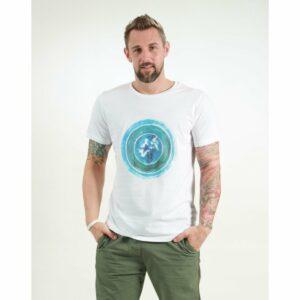 t-shirt herren world white