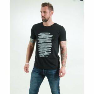 t-shirt herren zigzag black