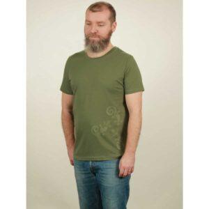 t-shirt herren three geckos green