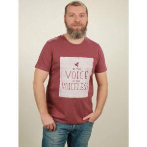 t-shirt herren voiceless berry