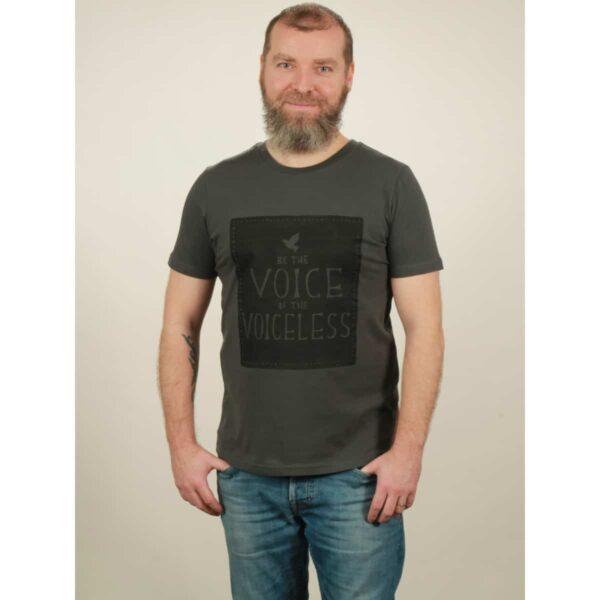 t-shirt herren voiceless dark grey
