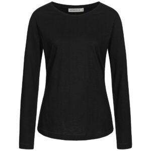 Slub Longsleeve Damen - Basic - black