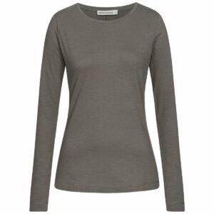 Slub Longsleeve Damen - Basic - dark grey