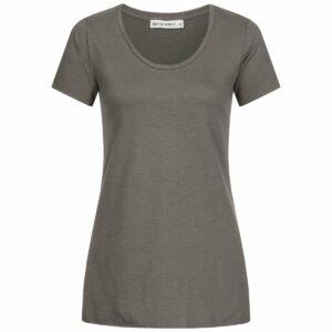 Slub Shirt Damen - A-Form - dark grey