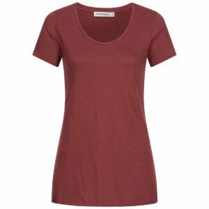 Slub Shirt Damen - A-Form - wine red