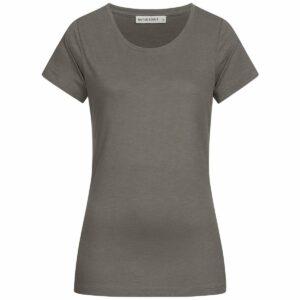 Slub T-Shirt Damen - Basic - dark grey