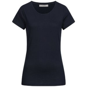 Slub T-Shirt Damen - Basic - navy
