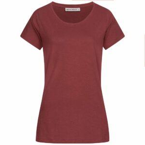 Slub T-Shirt Damen - Basic - wine red