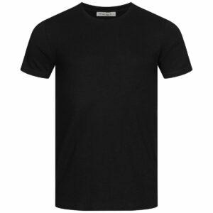 Slub T-Shirt Herren - Basic - black