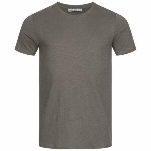 Slub T-Shirt Herren - Basic - dark grey