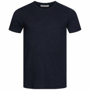 Slub T-Shirt Herren - Basic - navy