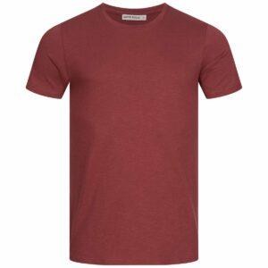 Slub T-Shirt Herren - Basic - wine red