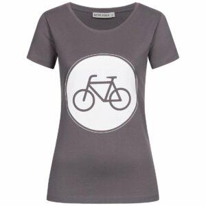 T-Shirt Damen - Bike - charcoal