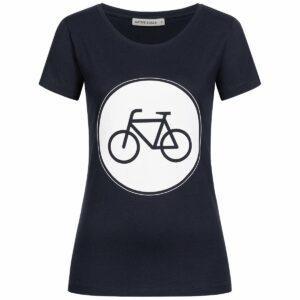 T-Shirt Damen - Bike - navy