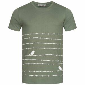 T-Shirt Herren - Barbwire - moss green