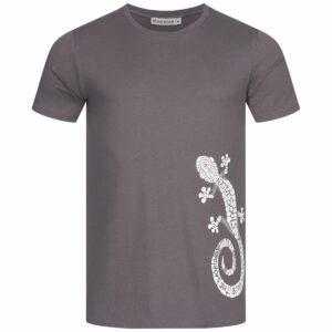 T-Shirt Herren - Gecko - charcoal