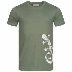T-Shirt Herren - Gecko - moss green