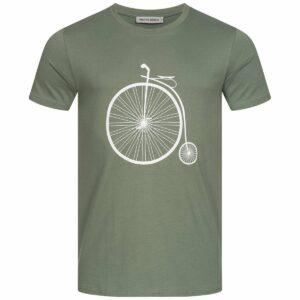 T-Shirt Herren - Retro Bike - moss green