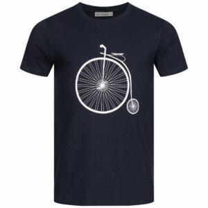 T-Shirt Herren - Retro Bike - navy