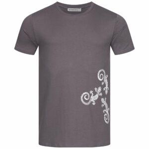 T-Shirt Herren - Three Gecko - charcoal