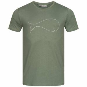 T-Shirt Herren - Whale - moss green