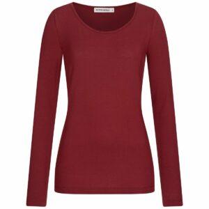 Tencel Longsleeve Damen - dark red