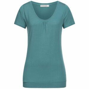 Tencel T-Shirt Damen - dark petrol