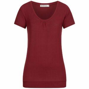 Tencel T-Shirt Damen - dark red